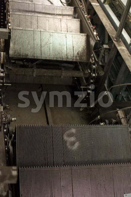 Escalator construction works Stock Photo