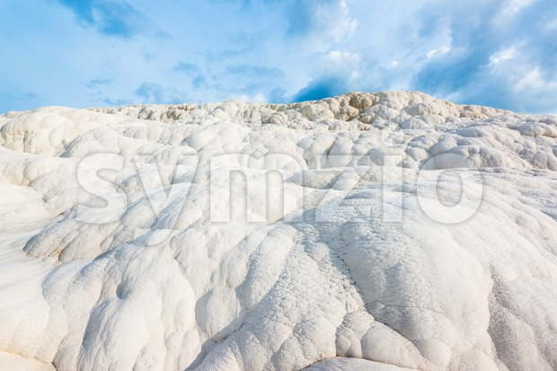 Travertine rocks in Pamukkale, Turkey Stock Photo