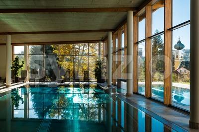 luxury hotel pools Stock Photo