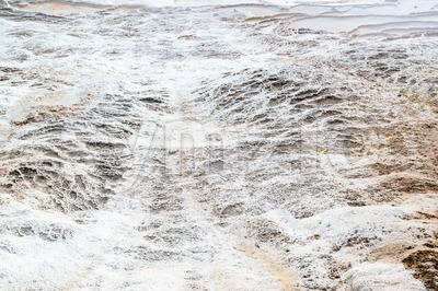 Detail of the travertine pools in Pamukkale, Turkey Stock Photo
