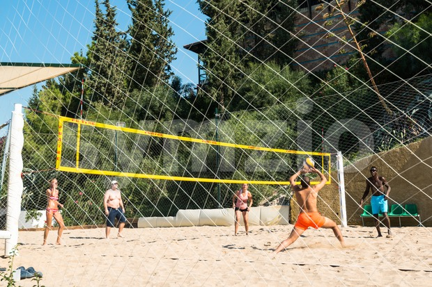 Beach volleyball match Stock Photo