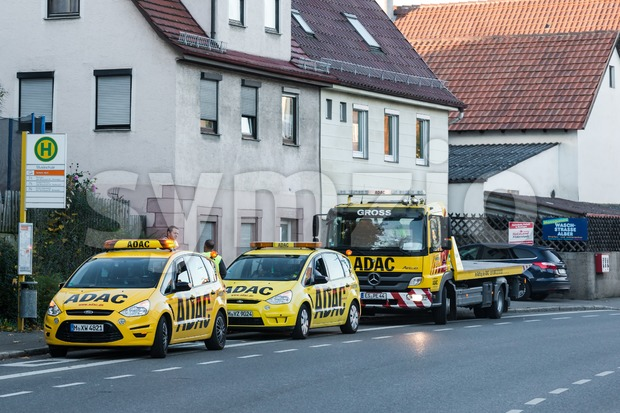 ADAC service cars Stock Photo