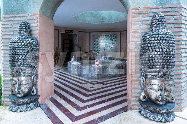 Entrance to Turkish Hamam Stock Photo