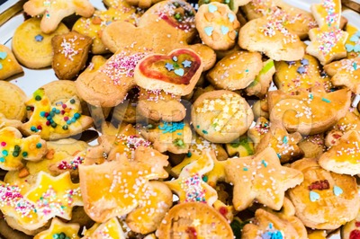 childrens christmas cookies Stock Photo