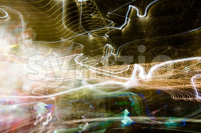 Light painting Stock Photo