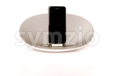 iPhone 6 with loudspeaker Stock Photo