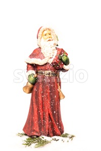 Santa Claus in snow Stock Photo