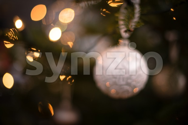 Myterious Christmas tree Stock Photo