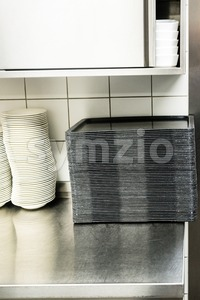 large canteen kitchen Stock Photo