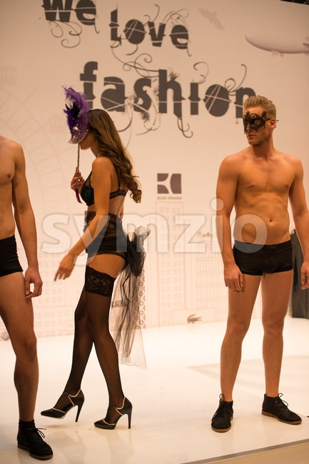 Lingerie & Fashion Show Stock Photo