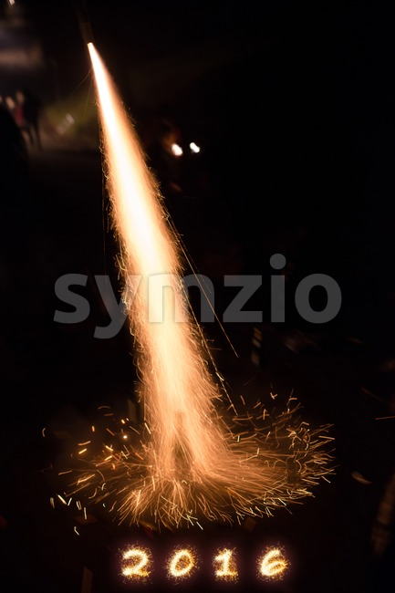Happy 2016 Stock Photo