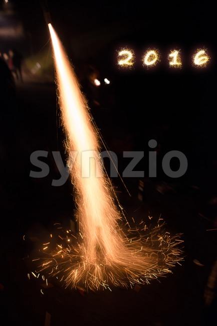 Happy 2016 Stock Photo