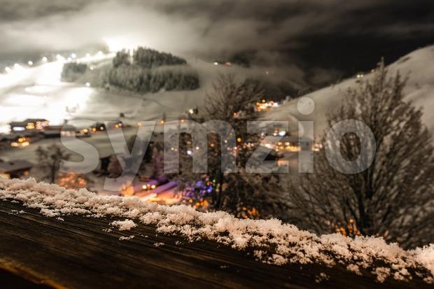 Picturesque winter scene Stock Photo