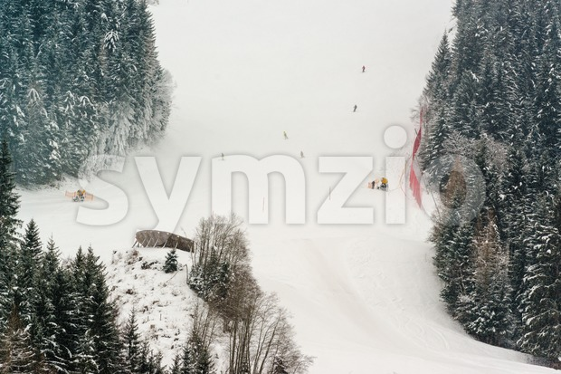 Skiing slope Stock Photo