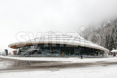 Max Aicher Arena in Inzell, Germany Stock Photo