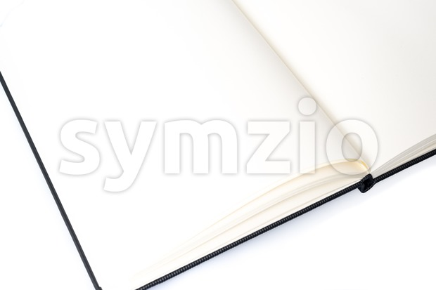 Open notebook with space for your text Stock Photo