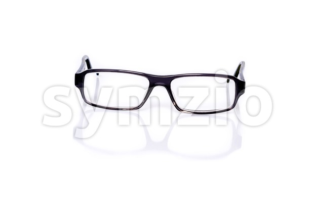 Black Eye Glasses On White Stock Photo