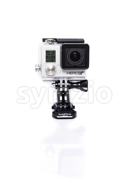GoPro Hero 3+ Actioncam on white Stock Photo