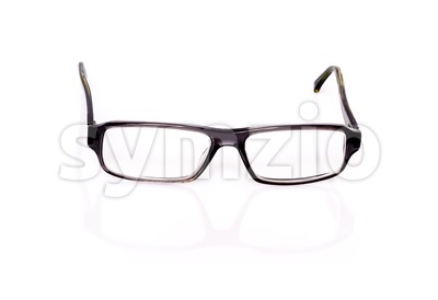 Black Optical Glasses On White Stock Photo