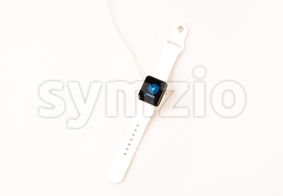 Charging the Apple Watch Stock Photo