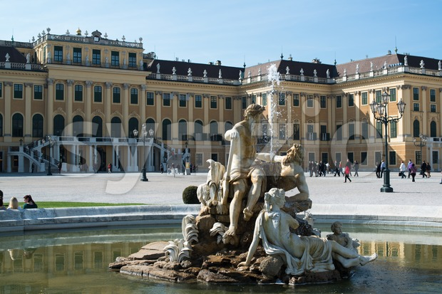Schoenbrunn Palace in Vienna, Austria Stock Photo