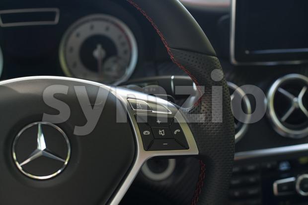 Mercedes Benz A-Class interior Stock Photo