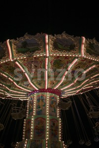 Carousel night shot Stock Photo