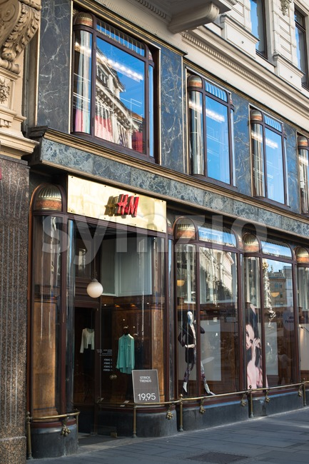 VIENNA - OCTOBER 3: H&M store in an historic building on Spiegelgasse  on the afternoon of October 3, 2012 ...