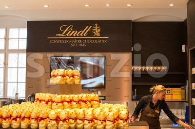 Lindt Chocolate Boutique in Vienna, Austria Stock Photo