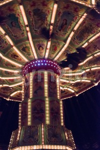 Carousel night shot Stock Photo