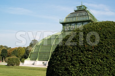 Beautiful Old Greenhouse Stock Photo