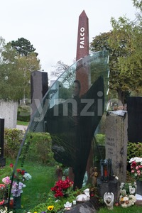 Memorial at Falco´s grave Stock Photo