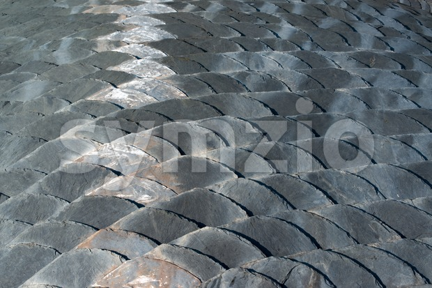 Slate roof detail Stock Photo