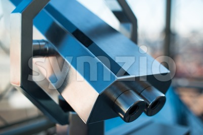 Coin operated telescope Stock Photo