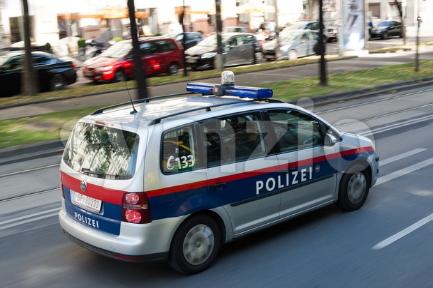 Police car in Vienna Stock Photo