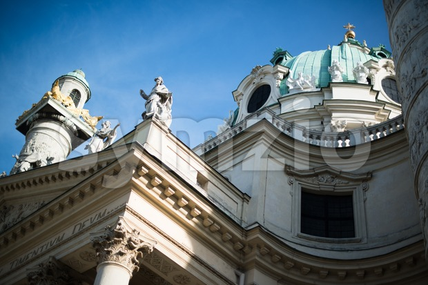 St. Charles' Church (Karlskirche) in Vienna Stock Photo