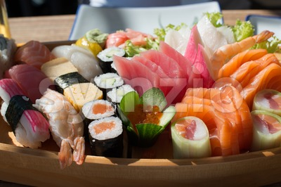 Sushi and Sashimi Stock Photo