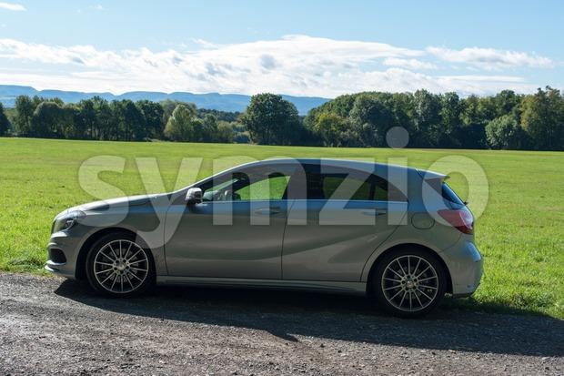 Mercedes Benz A-Class test drive Stock Photo