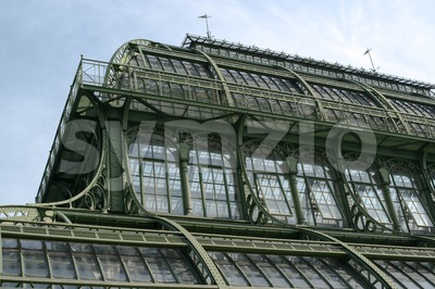 Old Greenhouse Stock Photo