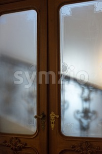 ancient staircase and doors Stock Photo
