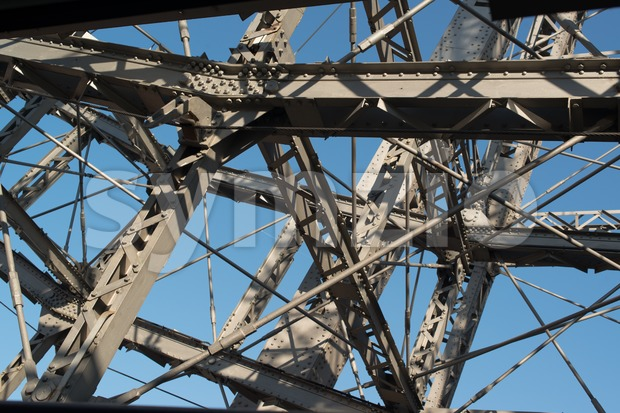 Detail of Ferris Wheel At Vienna Prater Stock Photo
