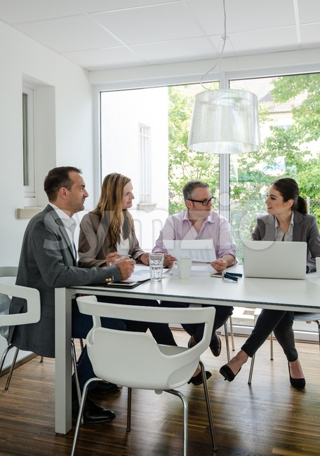 business meeting in a cozy environment Stock Photo