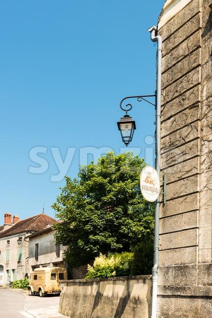Historical factory of Anise De Flavigny Stock Photo