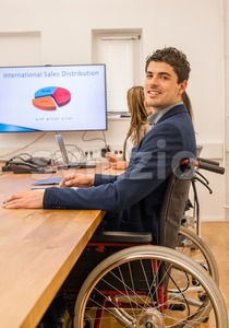 inclusion - portrait of a man in wheelchair Stock Photo