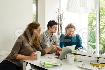 Start-up business team in meeting Stock Photo