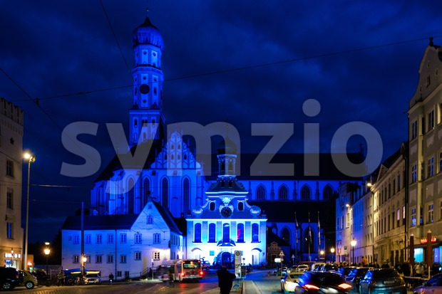 St. Ulrich Basilica in the city of Augsburg Stock Photo