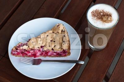Redcurrant meringue tart Stock Photo