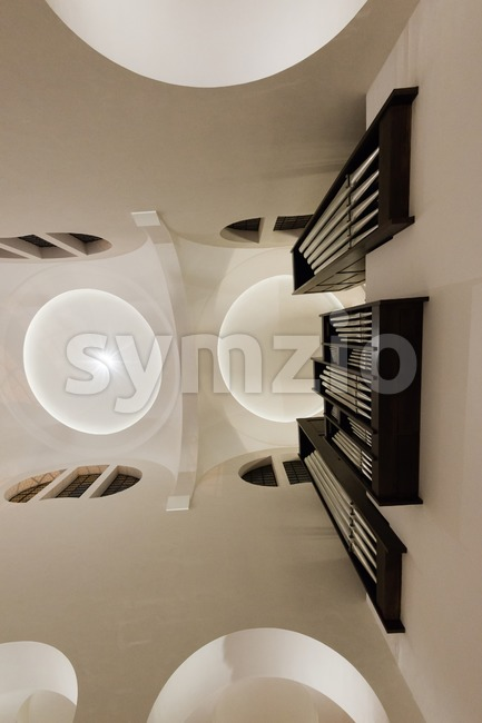 Modern Church interior Stock Photo