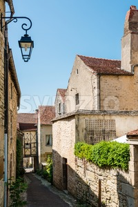 Beautiful street in Flavigny-sur-Ozerain Stock Photo
