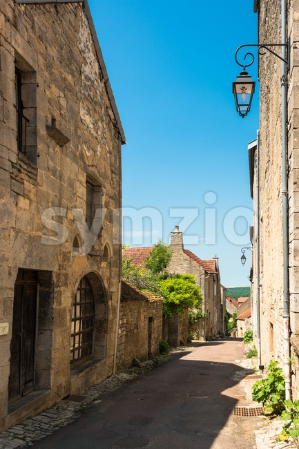 Beautiful building in Flavigny-sur-Ozerain a little village in Burgundy, France that served as setting for the movie Chocolat by Lasse ...